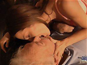 granddad is plumbed by lovely chick in News vs Romantic