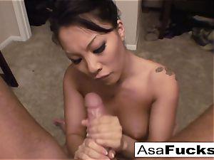 Asa gives an epic deep gullet bj