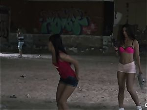 Apolonia Lapiedra, Alexa Tomas - Real fledgling porn in a dirty ghetto