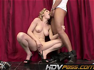 HDVPass Lily Labeau Gives a blowage Before railing chisel