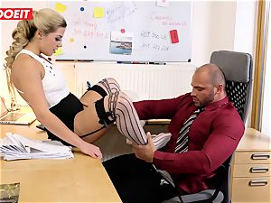Stepdaughter joins father in drilling the office secretary