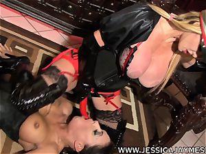mega-slut Jessica Jaymes and Taylor Wane the mistress