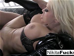 huge-titted Nikita pummels a humungous boner