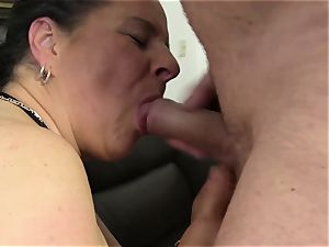hardcore Omas - Mature first-timer 4some with German bitches
