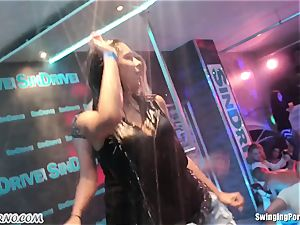 Fornication on the porn soiree in nightclub