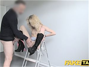 fake taxi bony puny blondie takes fat manhood