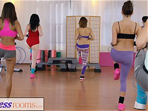 sport rooms gym nymphs have all girl 3some
