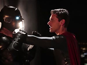 Alison Tyler drills two wild superheroes