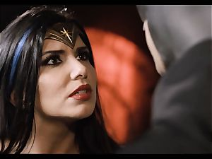 Justice League gonzo part 5 - Hero fuck-a-thon with Romi Rain