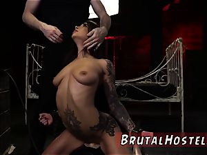 fresh restrain bondage lovemaking marionette and extreme ash-blonde first time thrilled young tourists Felicity