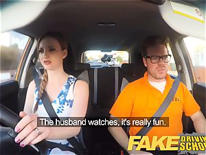 faux Driving college Nerdy ginger-haired nubile student