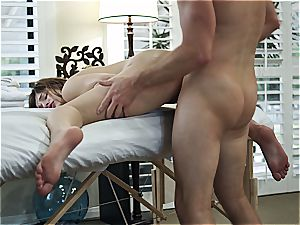 Leah Gotti rubbed and pummeled by Ryan