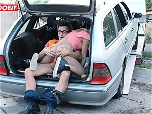 buxom Latina Francys Belle gets drilled outdoors