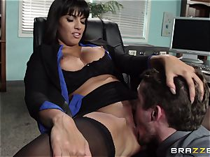 latin assistant Mercedes Carrera seduced her fresh manager in the office