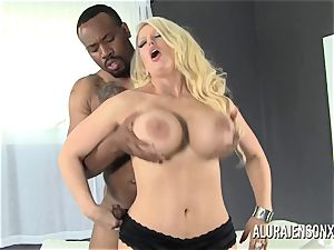 massive titty sex industry star Alura Jenson enjoys large ebony prick