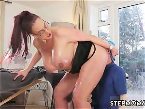 Taboo game demonstrate hard-core yam-sized boob Step-Mom Gets a massage