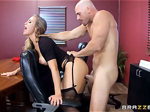 torrid manager Nicole Aniston taking a humungous fuckpole in the office