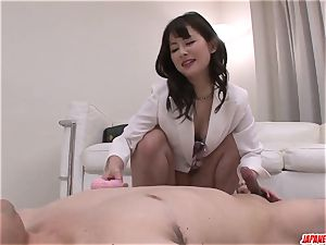 Ayumi Iwasa attempts knob in each of her thirsty fuck-holes