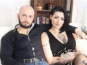 casting ALLA ITALIANA - splashing babe in scorching casting