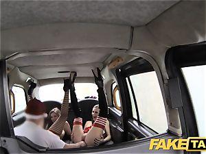 fake taxi Xmas theme off the hook santa ass-fuck smashes 2 elves