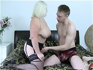 AgedLovE chesty Mature Lacey Starr hard-core lover