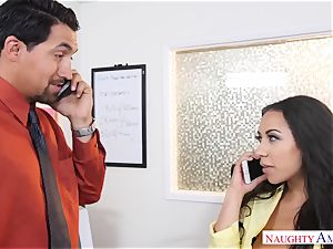 Office cockslut Priya Price with fat mounds luvs hard penises