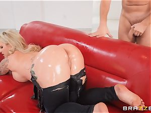 lubed up torn denim booty nail with Ryan Connor