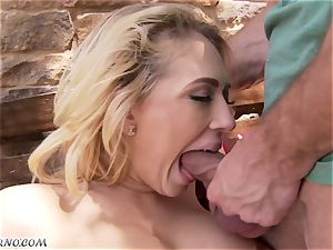 lustful busty blonde Kagney Linn Karter gets poked outdoor