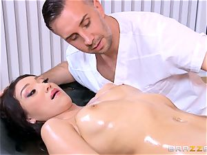 Vicki pursue has a final fling with the massagist