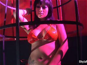 busty Shyla Stylez gets down in a torrid three way