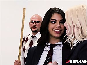 kinky schoolgirl deserves to be punished for her misbehavior