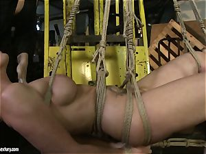 Kathia Nobili and Mandy Bright bod binding with cable