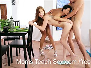 With dads away torrid stepmoms have fun